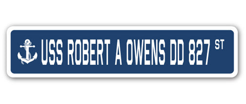 USS Robert A Owens Dd 827 Street Vinyl Decal Sticker