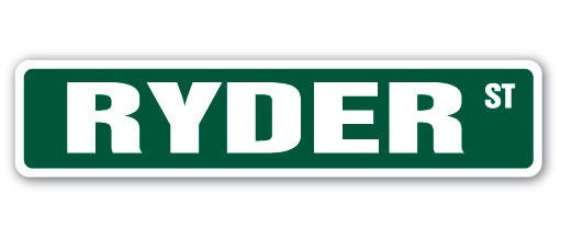 Ryder Street Vinyl Decal Sticker