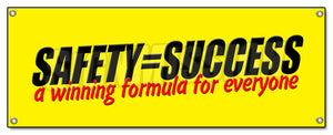 Safety Success Winning Form Banner