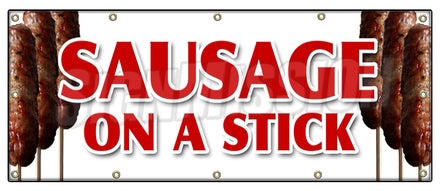 Sausage On A Stick Banner