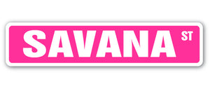 Savana Street Vinyl Decal Sticker