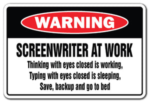 Screenwriter At Work Vinyl Decal Sticker