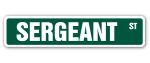 Sergeant Street Vinyl Decal Sticker