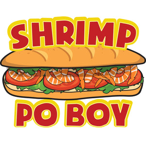 Shrimp Po Boy Die Cut Decal