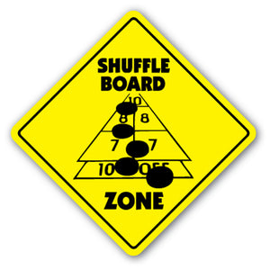 Shuffle Board Zone Vinyl Decal Sticker