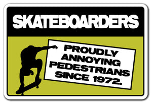 Skateboarders Annoying Pedestria