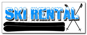 Ski Rental Decal