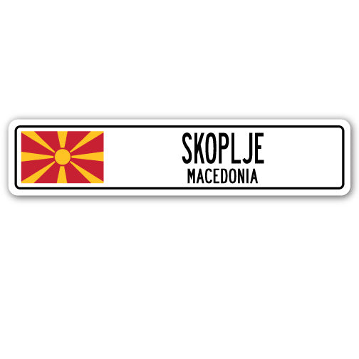 Skoplje, Macedonia Street Vinyl Decal Sticker