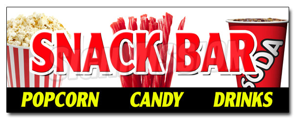 Snack Bar Candy Popcorn Decal