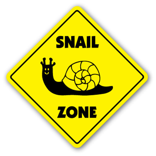 Snail Zone Vinyl Decal Sticker
