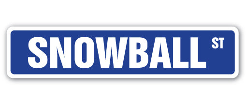 Snowball Street Vinyl Decal Sticker