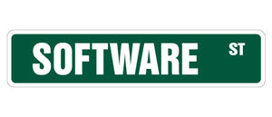 Software Street Vinyl Decal Sticker