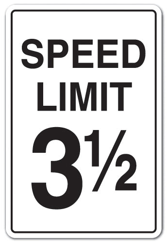 Speed Limit 3-1-2 Vinyl Decal Sticker