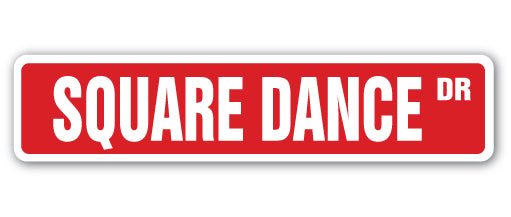 Square Dance Street Vinyl Decal Sticker