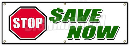 Stop Save Now Banner