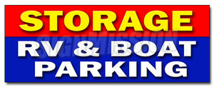Storage Rv & Boat Parkin Decal