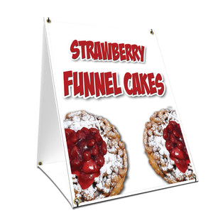 Strawberry Funnel Cakes