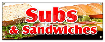 Subs & Sandwiches Banner