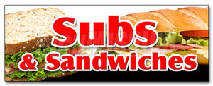 Subs & Sandwiches Decal