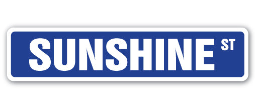 Sunshine Street Vinyl Decal Sticker