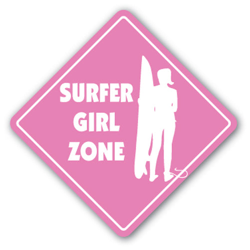 Surfer Girl Street Vinyl Decal Sticker