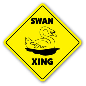 Swan Crossing Vinyl Decal Sticker