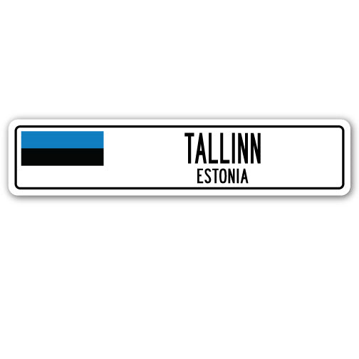 Tallinn, Estonia Street Vinyl Decal Sticker