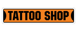 Tattoo Shop Street Vinyl Decal Sticker