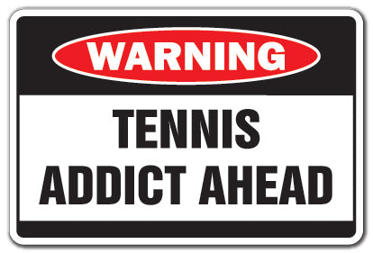 Tennis Addict Vinyl Decal Sticker