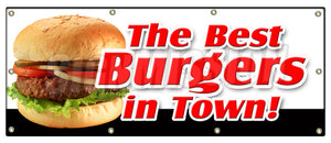 The Best Burgers In Town Banner