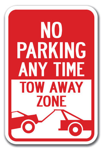 No Parking Any Time Tow-Away Zone