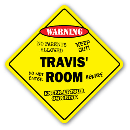 Travis' Room Vinyl Decal Sticker
