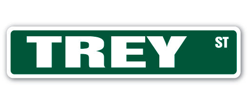Trey Street Vinyl Decal Sticker
