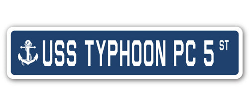 USS Typhoon Pc 5 Street Vinyl Decal Sticker
