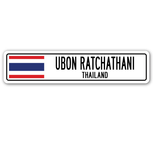 Ubon Ratchathani, Thailand Street Vinyl Decal Sticker