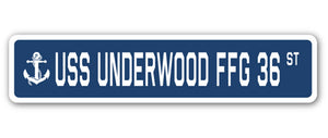 USS Underwood Ffg 36 Street Vinyl Decal Sticker