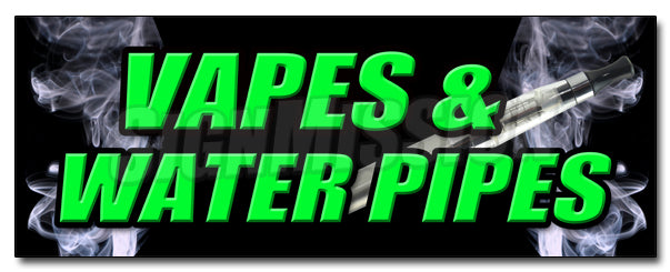 Vapes & Water Pipes Decal