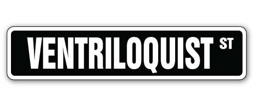 Ventriloquist Street Vinyl Decal Sticker