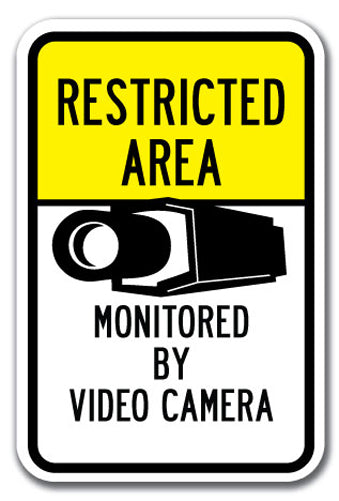 Restricted Area Monitored By Video Camera #2