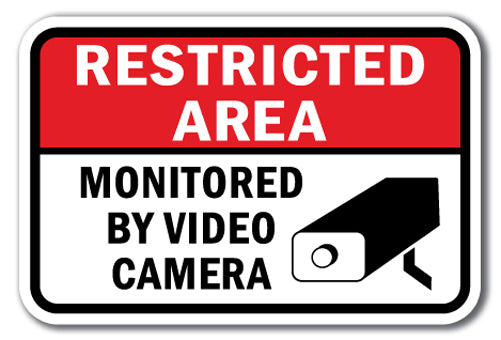 Restricted Area Monitored by Video Camera