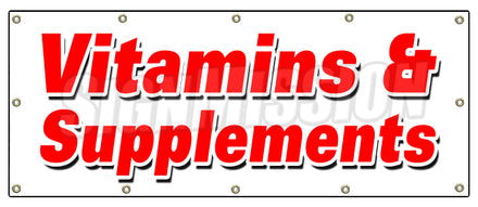 Vitamins & Supplements Banner