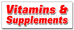 Vitamins & Supplements Decal