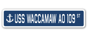 USS Waccamaw Ao 109 Street Vinyl Decal Sticker