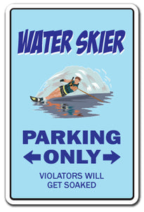 Water Skier Vinyl Decal Sticker