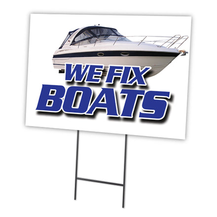 WE FIX BOATS