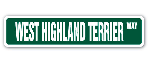 West Highland Terrier Street Vinyl Decal Sticker