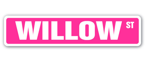 Willow Street Vinyl Decal Sticker