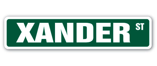 Xander Street Vinyl Decal Sticker