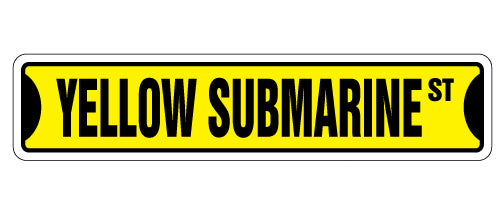 Yellow Submarine Street Vinyl Decal Sticker