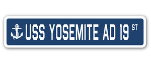 USS Yosemite Ad 19 Street Vinyl Decal Sticker